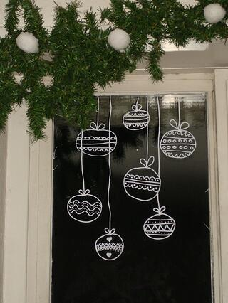 holiday window decal