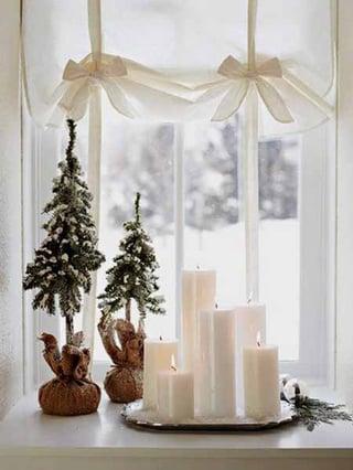 faux snow decor