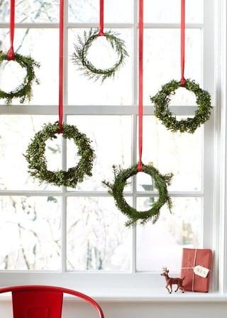 dangling wreaths