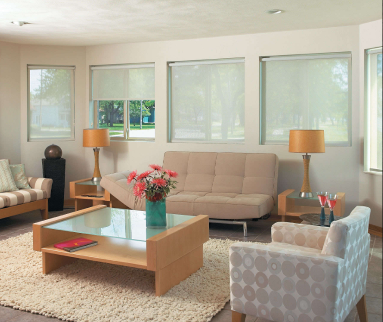 Solar screen shades can be customized to suit your needs.