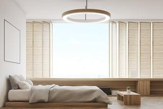 bedroom blinds, shutters, bedroom