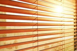 window, blinds, light